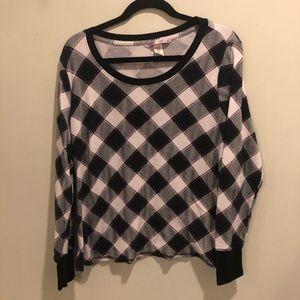 Victoria secret plaid checkered long sleeve shirt